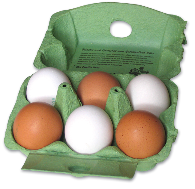 Eierschachtel Geflügelhof Dürr